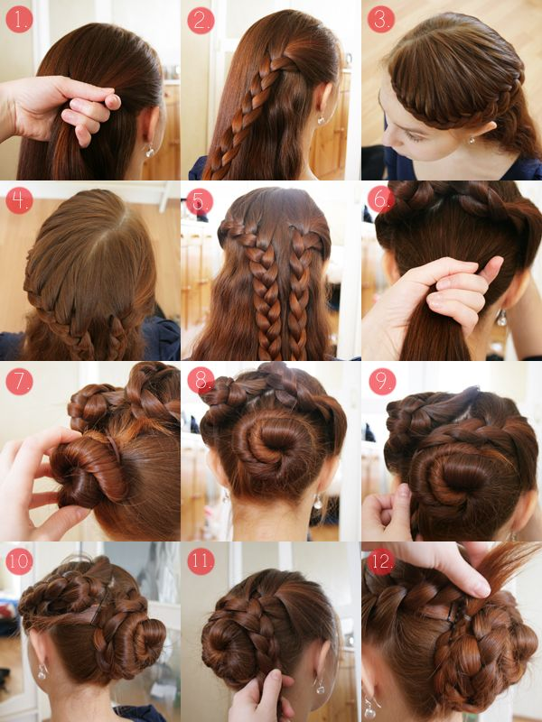 Pearls Scissors Braided Updo  Tutorial  for long  and