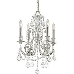 Complete Your Nursery Or Kid S Room With This Silver Chandelier From Crystorama Regis Collection Adorned Clear Hand Cut Crystals Intricate