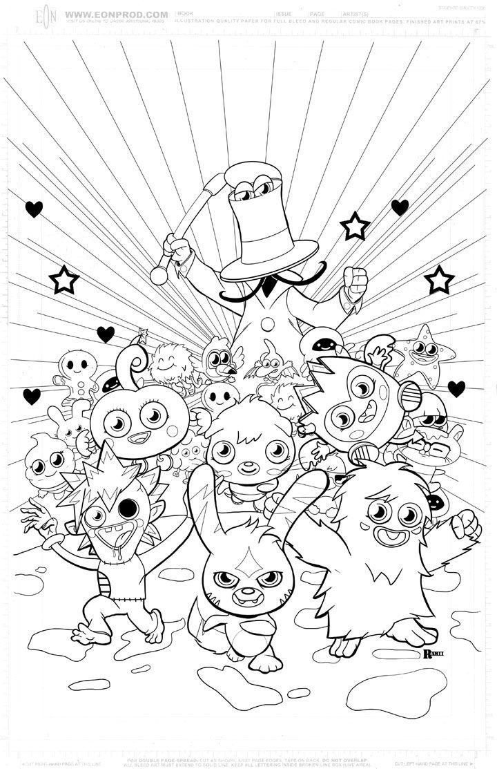 Moshi Monsters Coloring In Pages بحث Google Fun Stuff