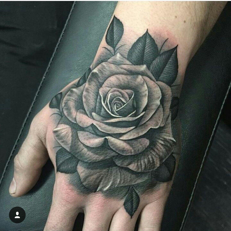 Rose hand tattoo … Pinteres…