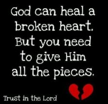 Resultado de imagen de bible verses god can heal a broken heart