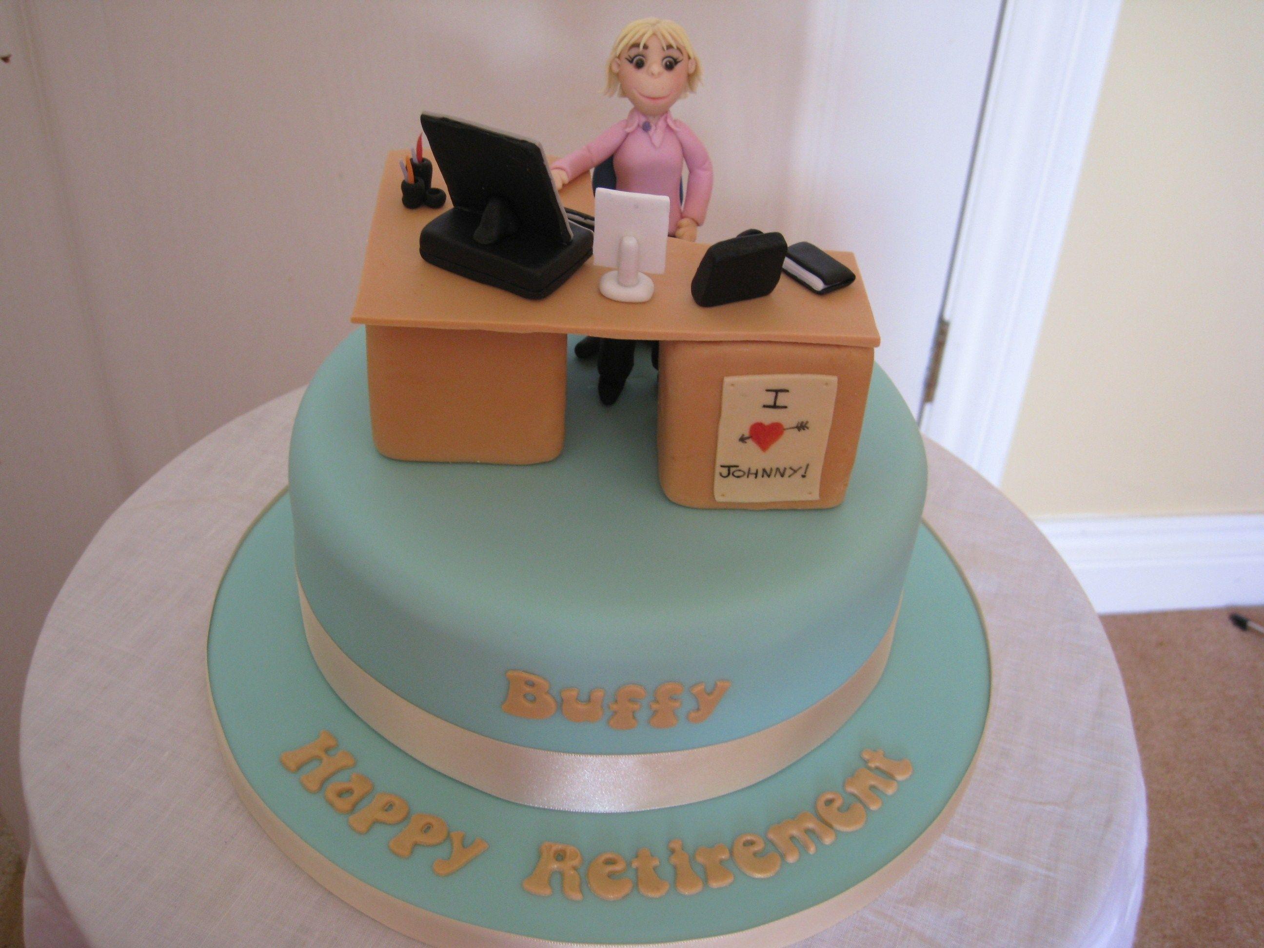 Office Desk Retirement Cake