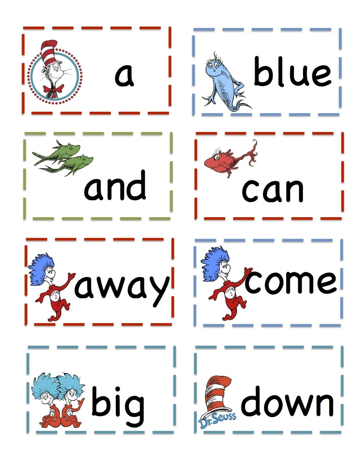 Preschool Printables That Cat Pre Primer Sight Vocabulary Cards