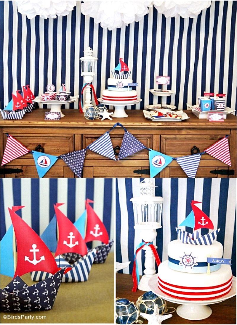 A Preppy Nautical Birthday Party Deserts Table Nautical