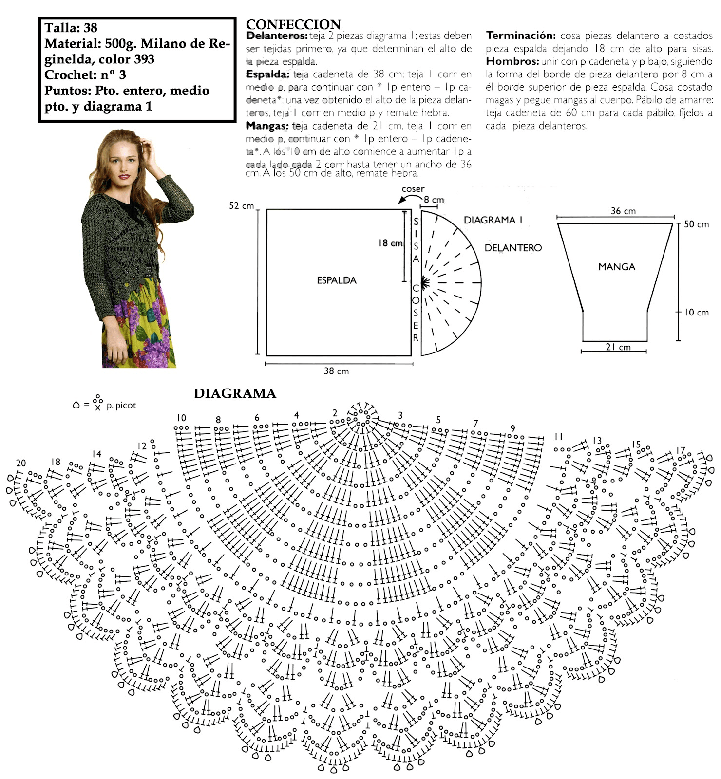 Crochet Earring Diagram