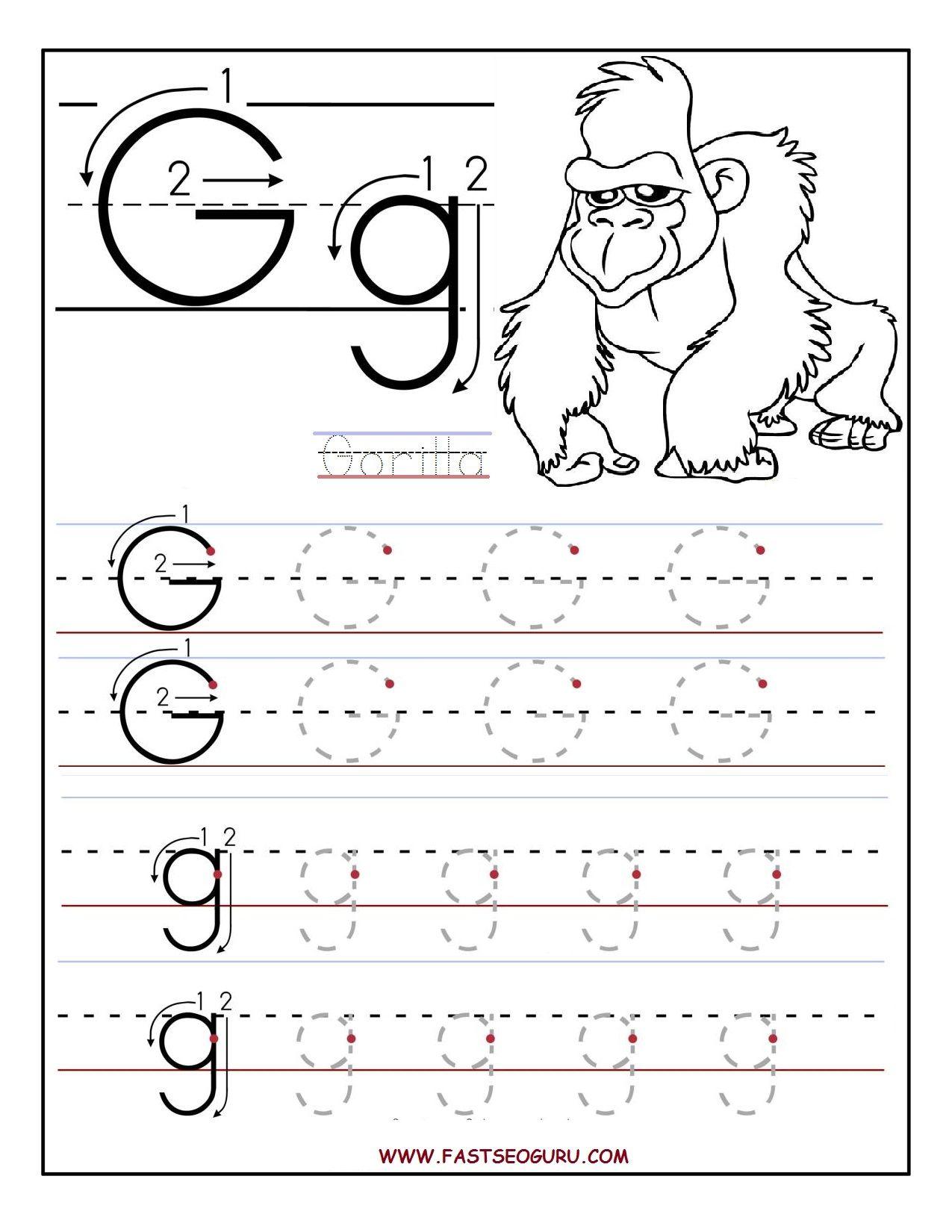 G Worksheets For Kindergarten