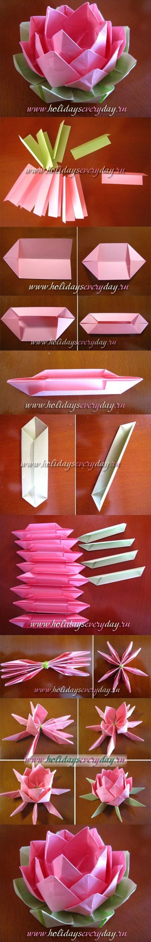 Origami lotus flower candle holder origami tutorial lets make it incredible origami lotus flower instructions tutorial izmirmasajfo