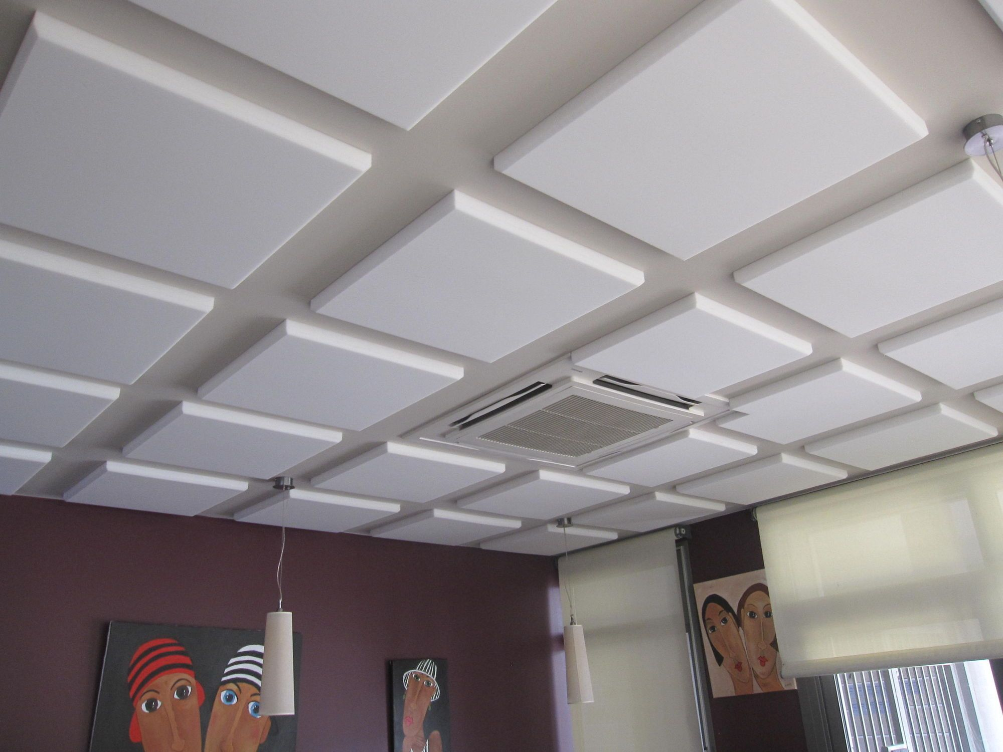 Alluring Drop Ceiling Tile Panels Idea In White Color With
