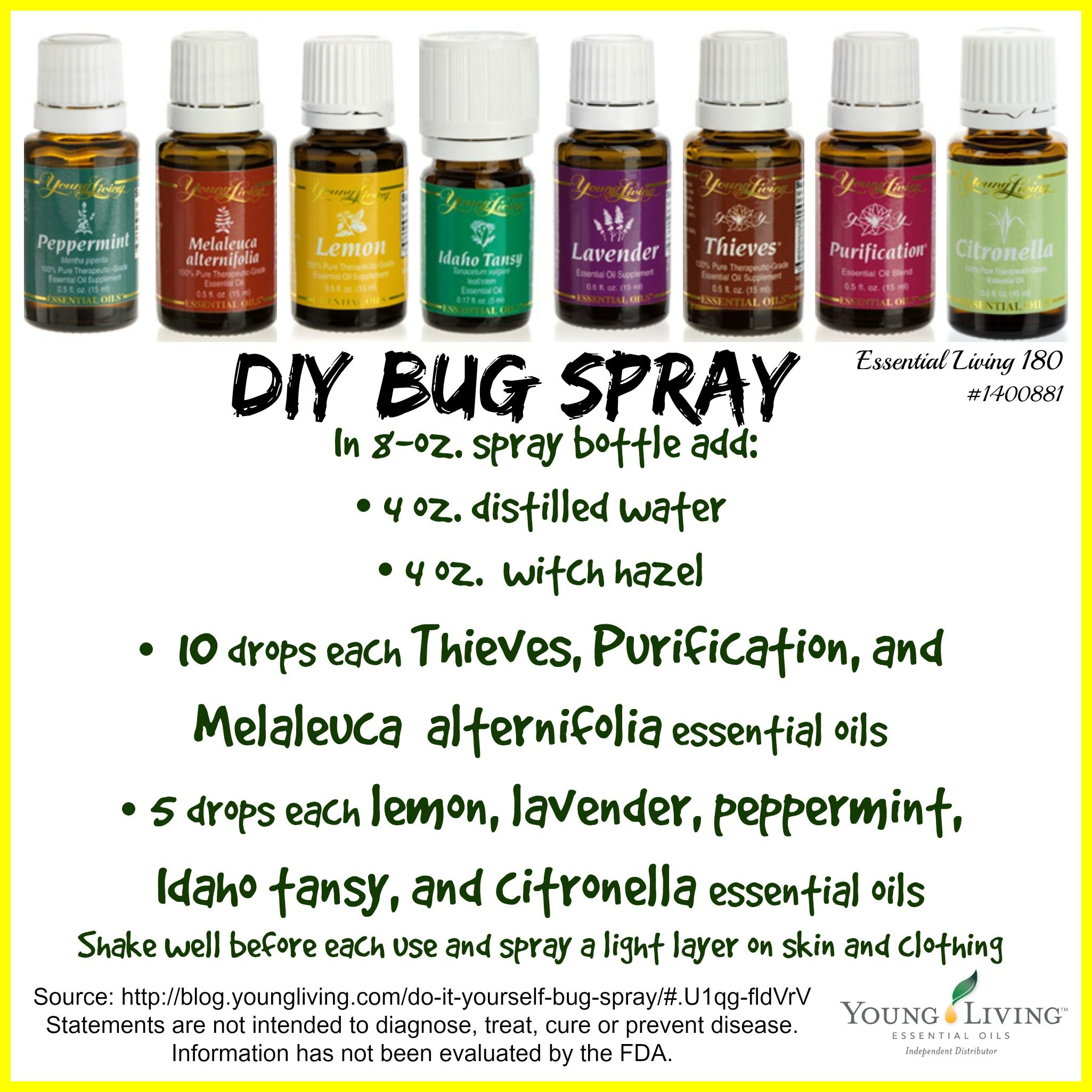 DIY Bug Spray Ditch the chemicals! Made with thieves
