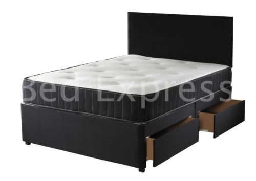 Backcare Support Divan Bed With 2 Draweremory Foam Mattress 3ft Single