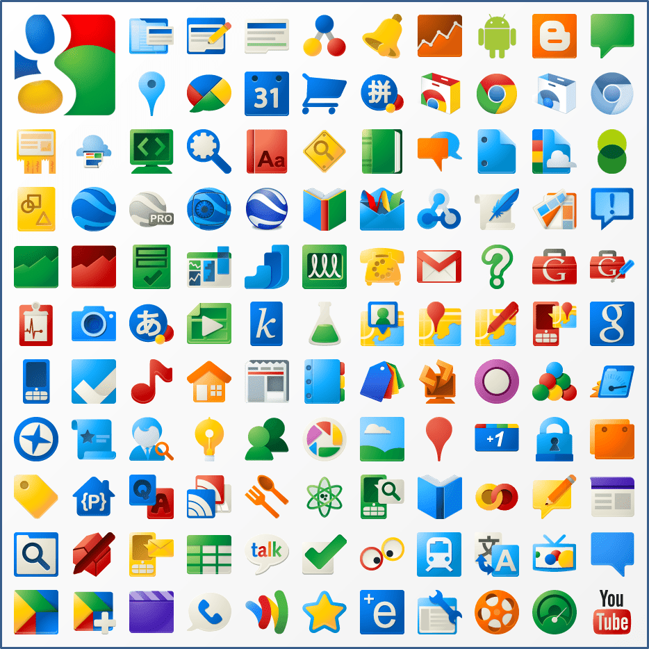 New Google Product Icons by on