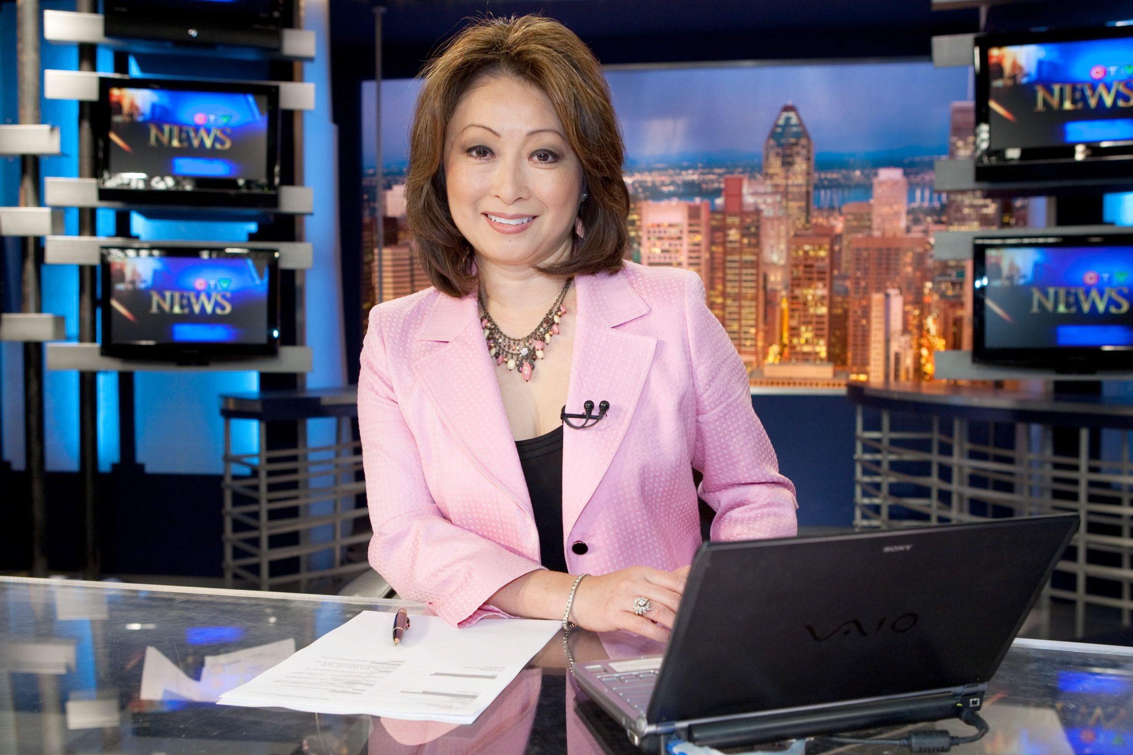 Mutsumi Takahashi, coanchor of CTV News Montreal at Noon