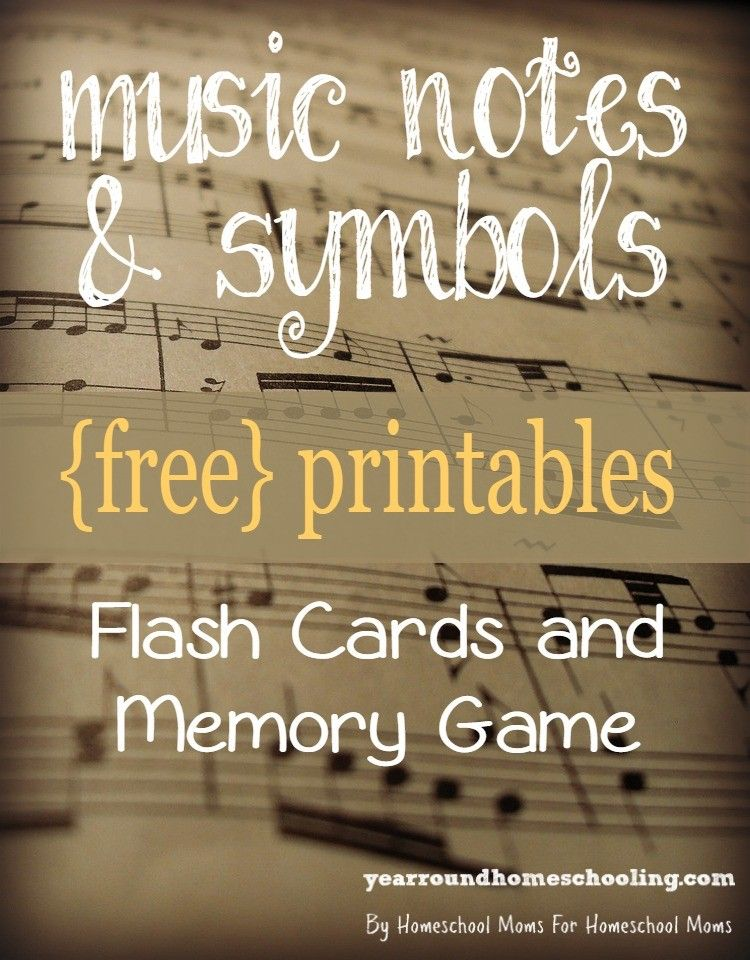 {free} Music Notes & Symbols Printables Music note