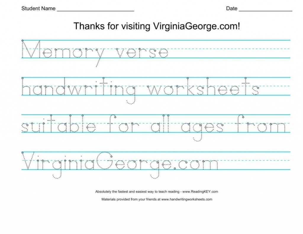 Free Bible Handwriting Practice Worksheets