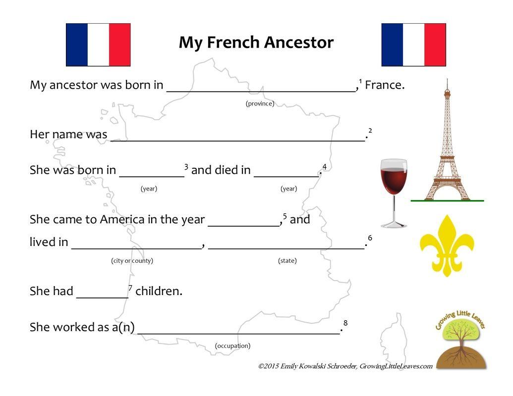 My French Ncest W Ksheet Grow Glittlele Ves Grow G
