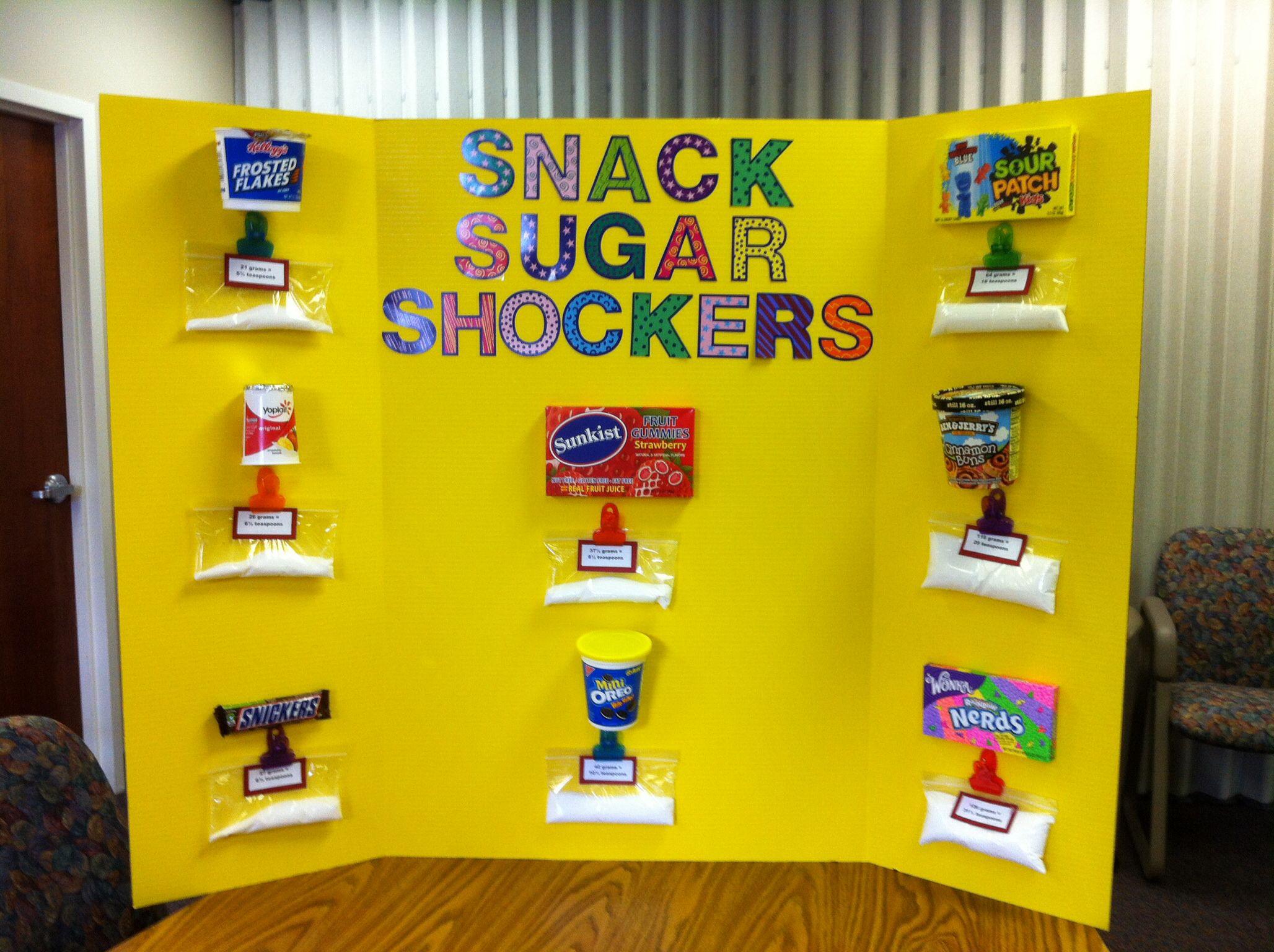 Health fair Sugar content in snacks Health Promotion