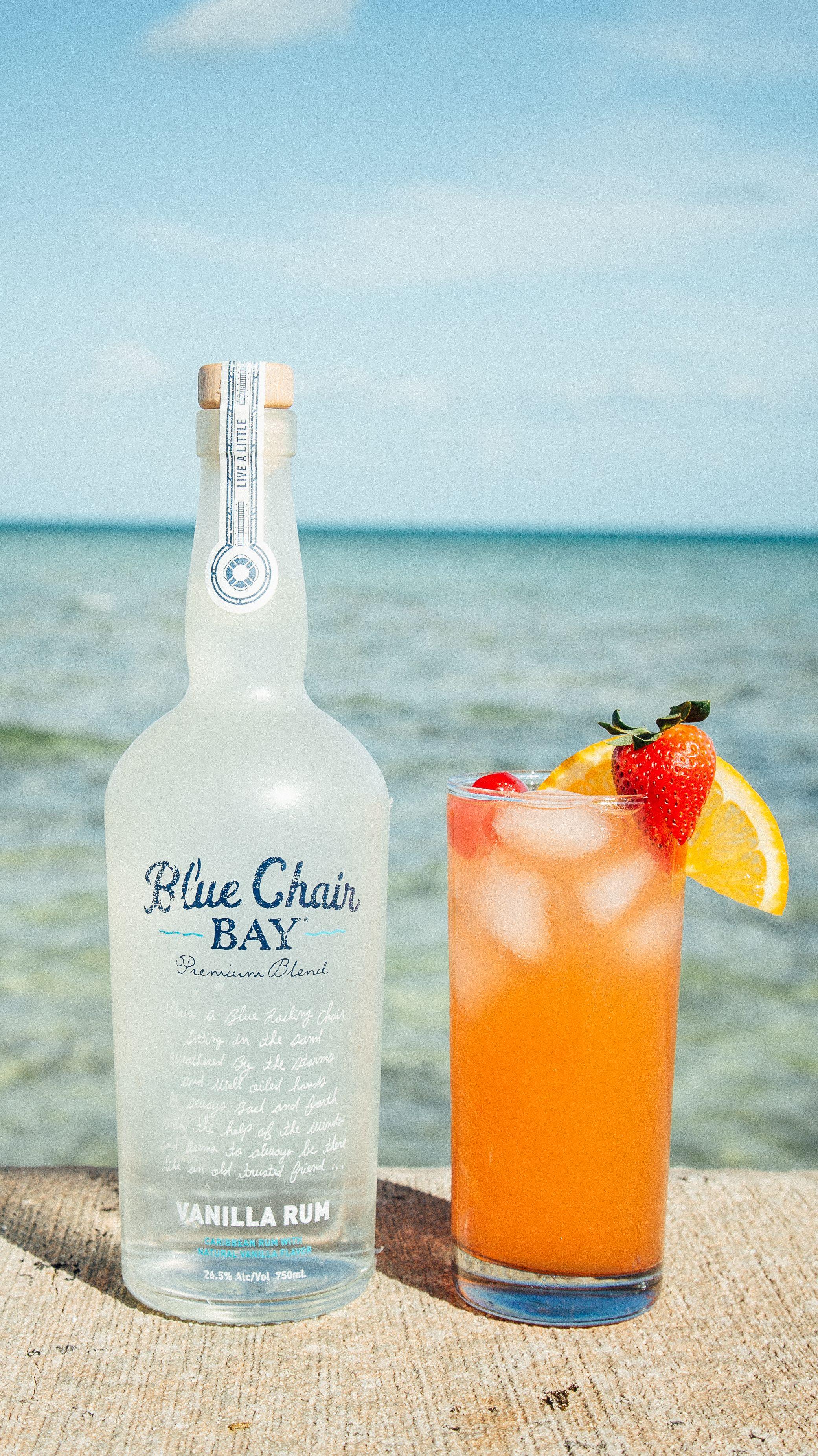 BEACH CHAIR COCKTAIL // 2 oz. Blue Chair Bay Vanilla Rum