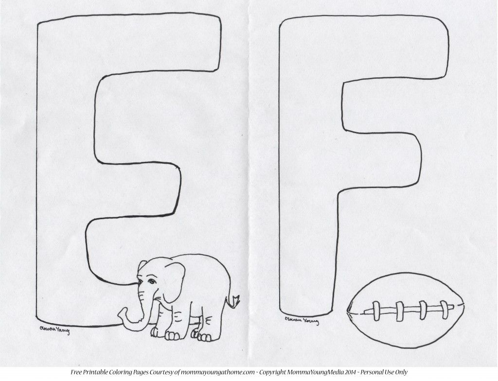 Free Printable Coloring Pages Letters E Through H