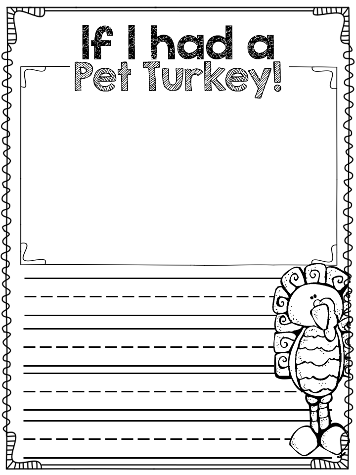 November Activities for First Graders Writing prompts