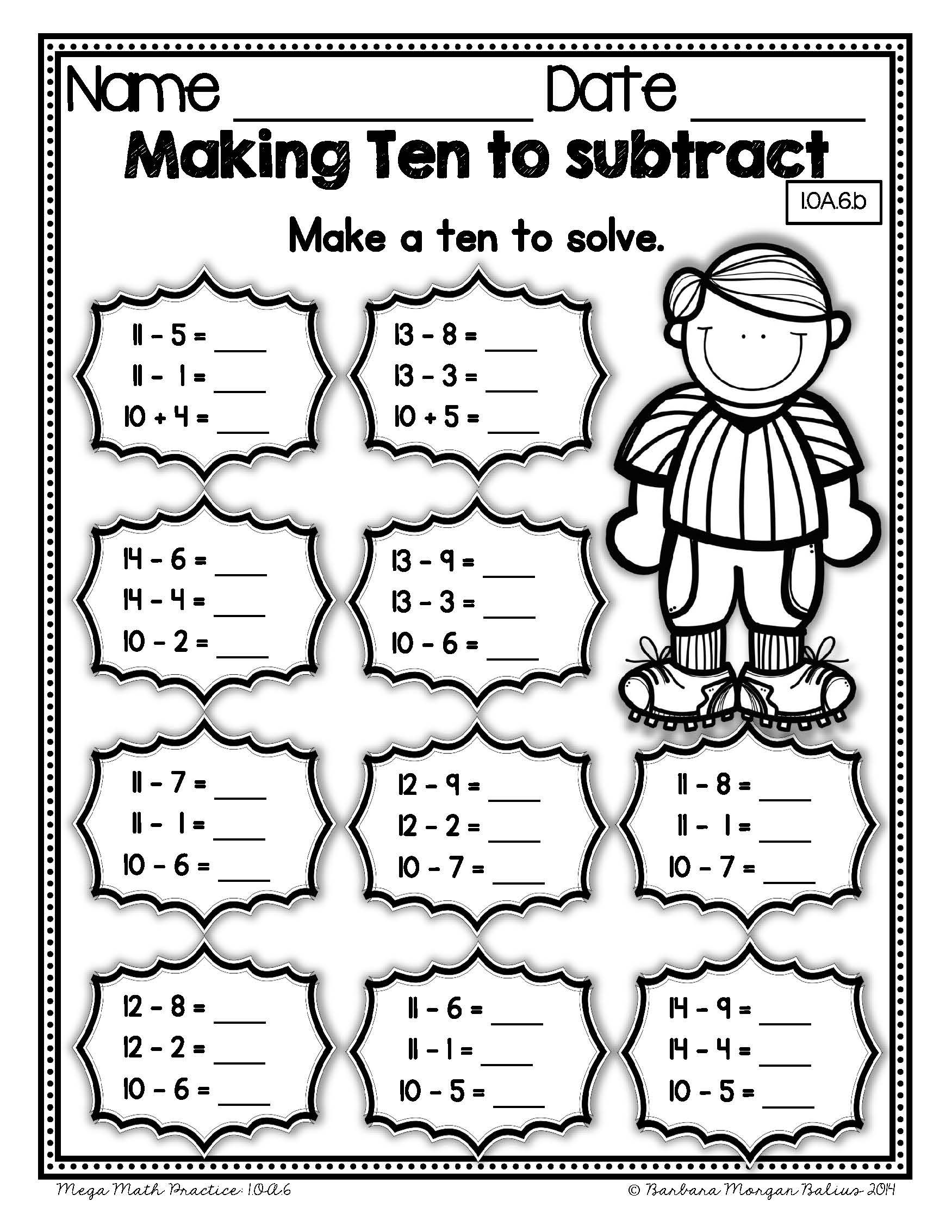 First Grade Math Mega Practice 1 Oa Bundle Operations And Algebraic Thinking