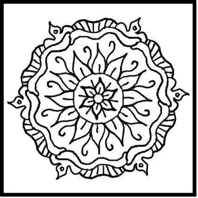 Mandalas To Color Printable Coloring Pages For Kids