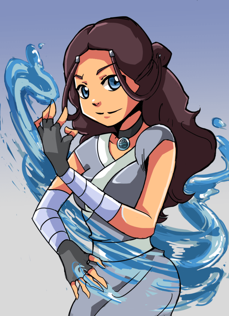 Beautiful Katara is a Waterbending Master from the