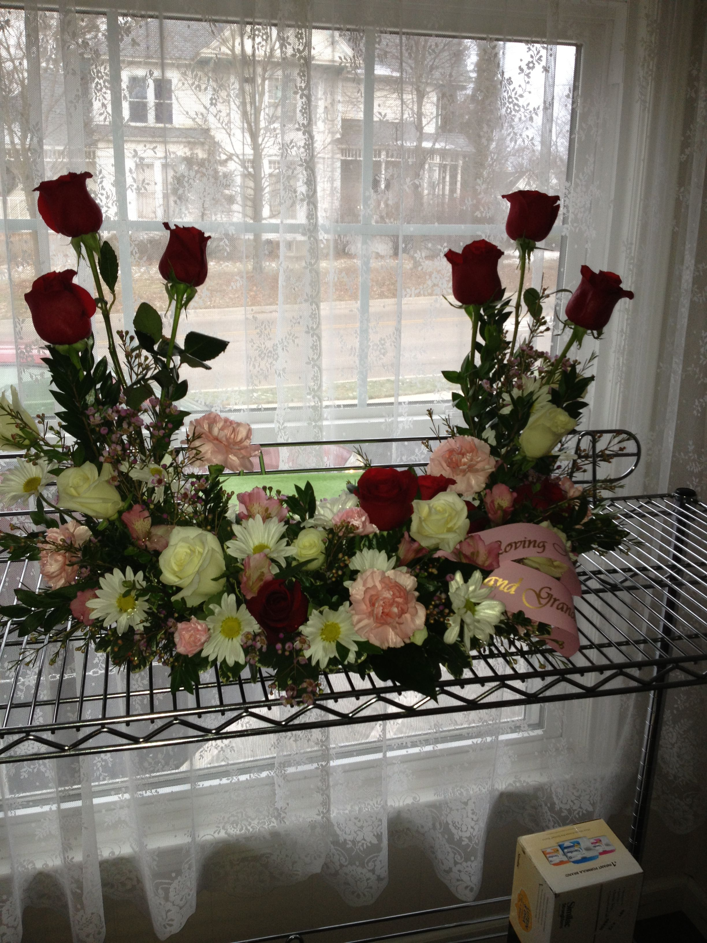 Perfect for a Memorial service, this beautiful arrangement