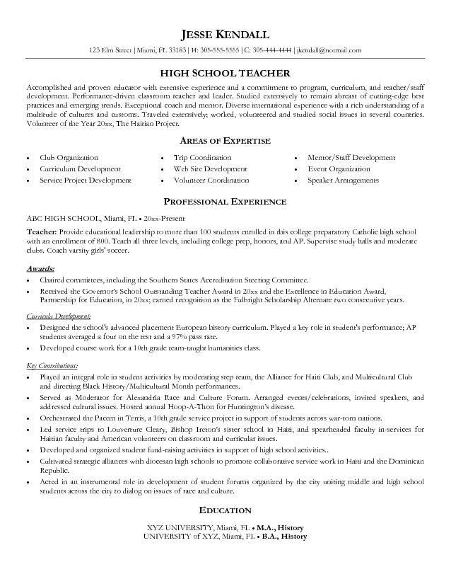 high school resume resume and high schools on pinterest