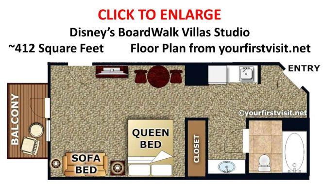Disney S Boardwalk Villas Studio Floor Plan From Yourfirstvisit Net