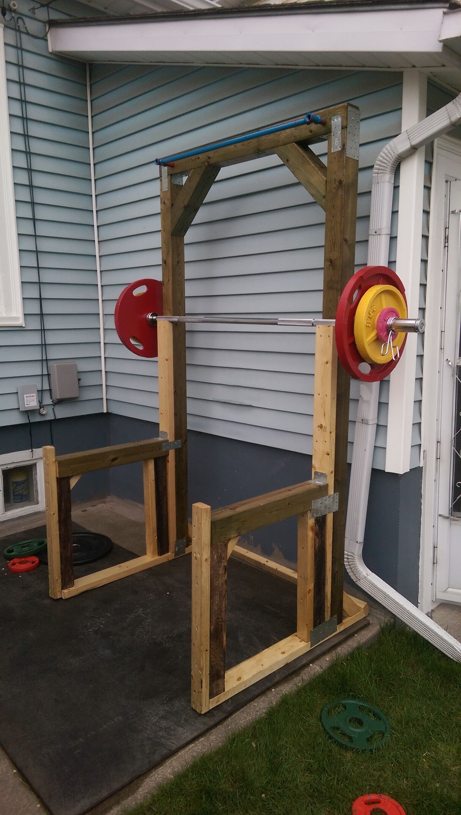 DIY outdoor squat rack Squat, Gym and Gym equipment