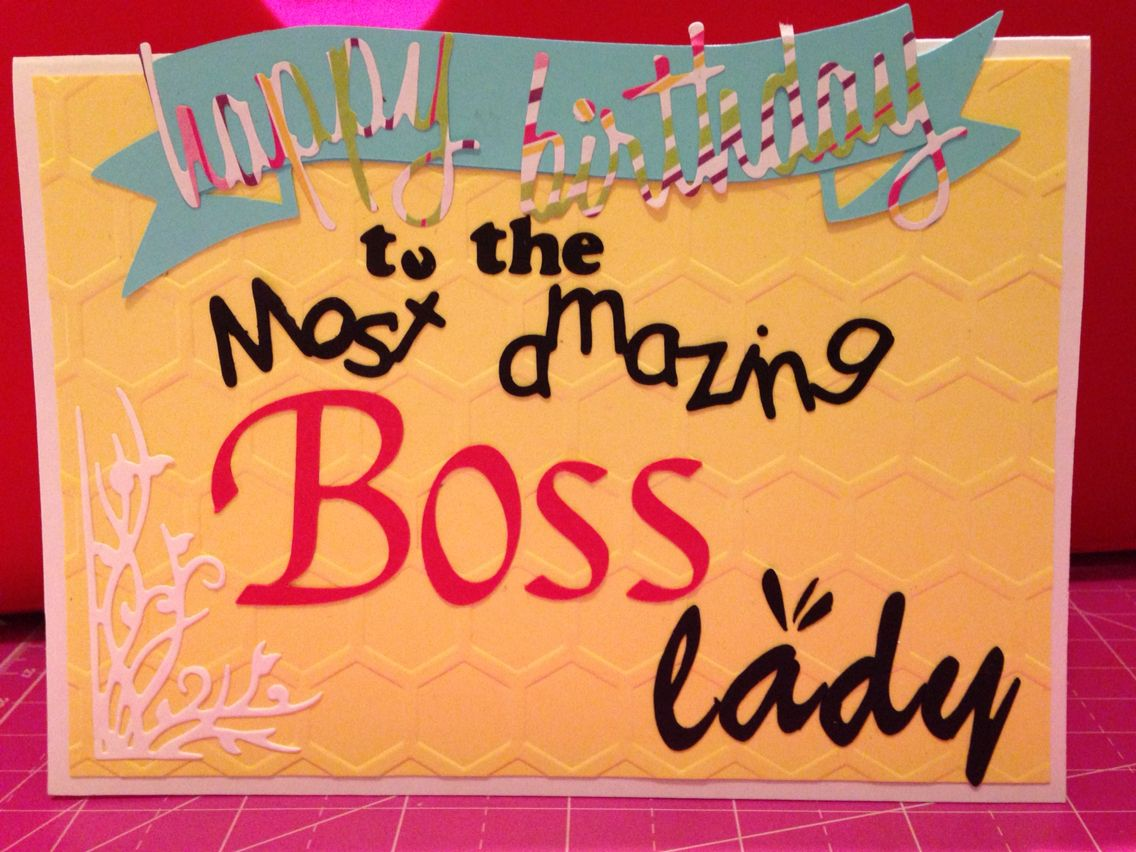 Handmade Happy Birthday Boss Lady cards Pinterest