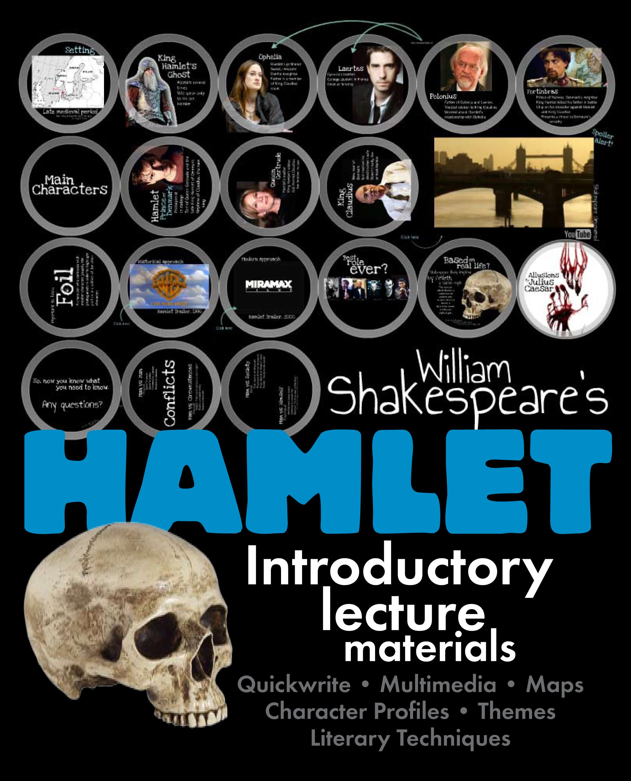 Hamlet Dazzling Lecture Materials To Launch Shakespeare S