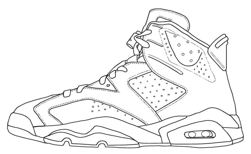 Jordan Shoe Coloring Pages - Coloring Home | 496x807