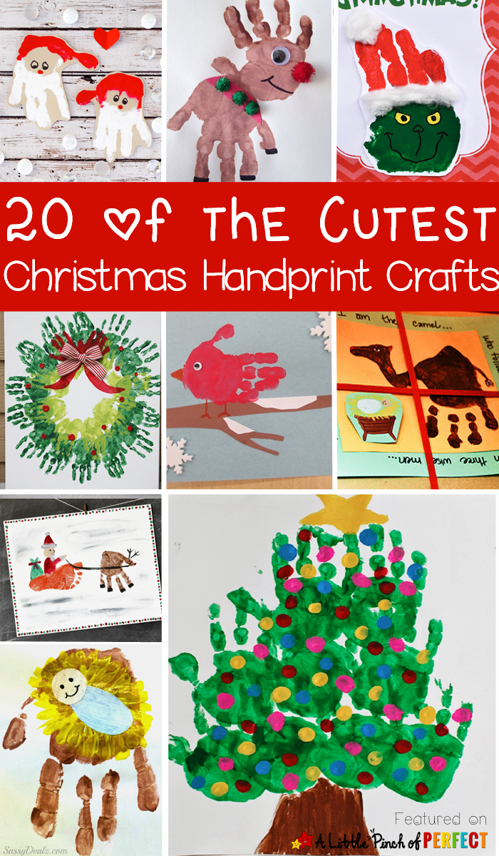 20 of the Cutest Christmas Handprint Crafts for Kids The