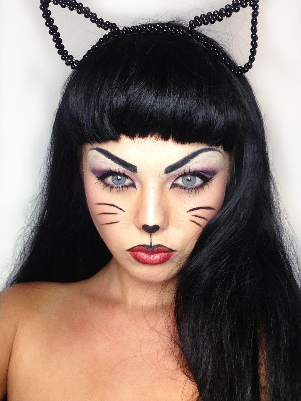 Mia. My cat makeup for halloween Twitter miakennington