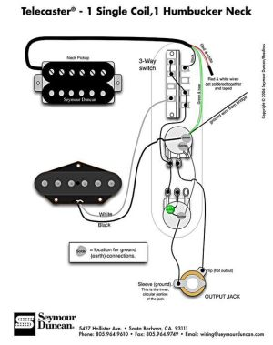 Telecaster Wiring Diagram  Humbucker & Single Coil
