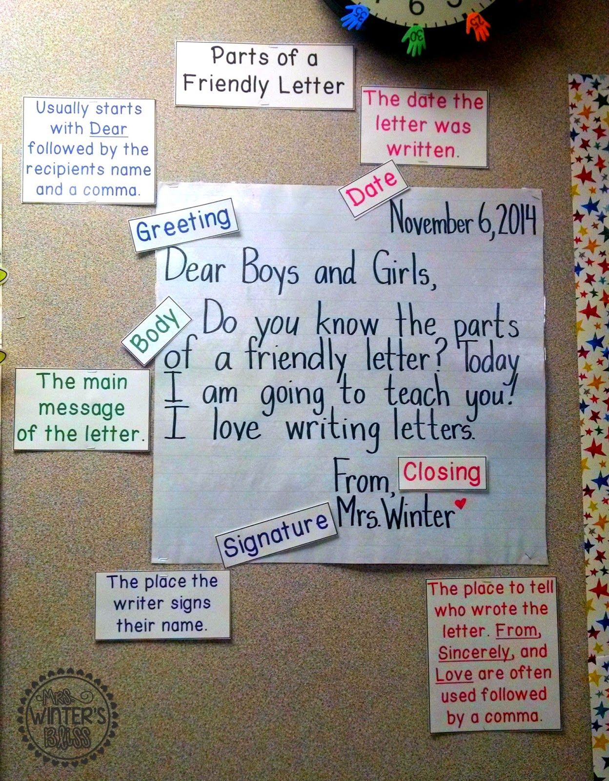 Letter Writing Anchor charts, Chart and Friendly letter