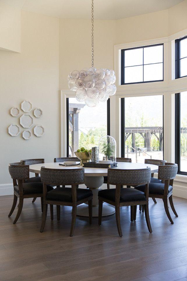 Interior Design Ideas Bubble Chandelier Wall Color Benjamin Moore Gray Mist