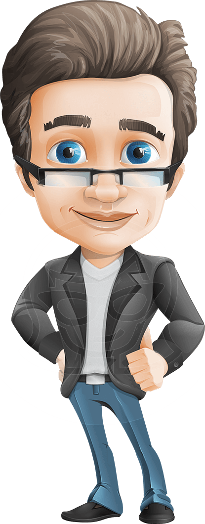 Nick Smartman casually dressed businessman vector