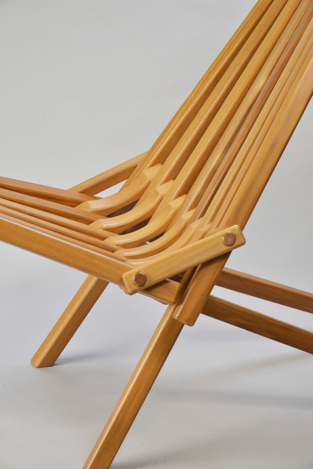 Mid Century Danish Modern Teak Wood Folding Chair