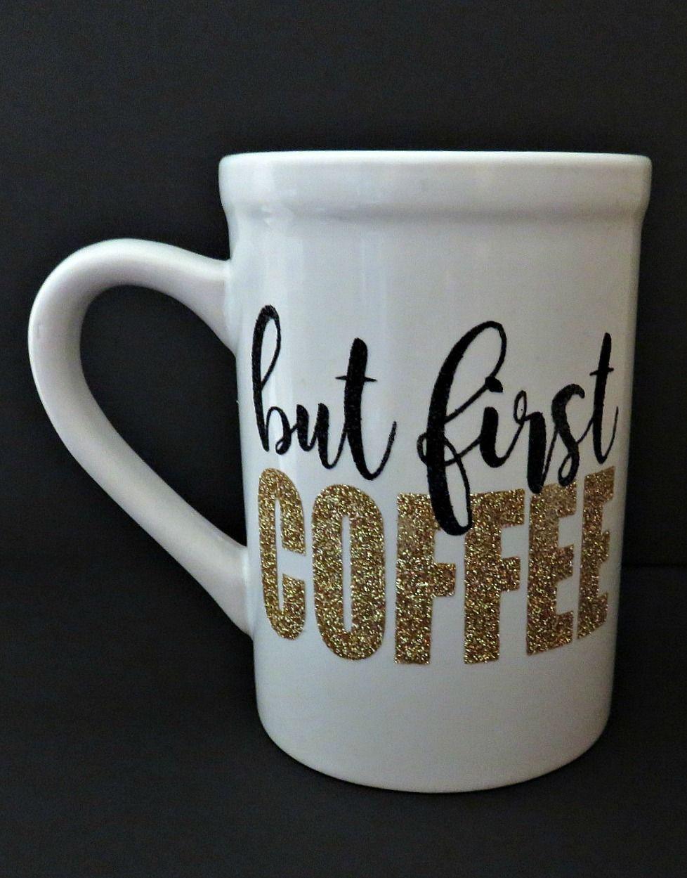 Adorable coffee mug made with Silhouette CAMEO and