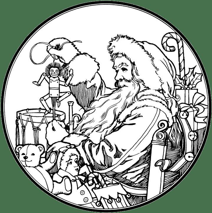 This Santa Claus Coloring Pages 13709 Vintage Santa Claus