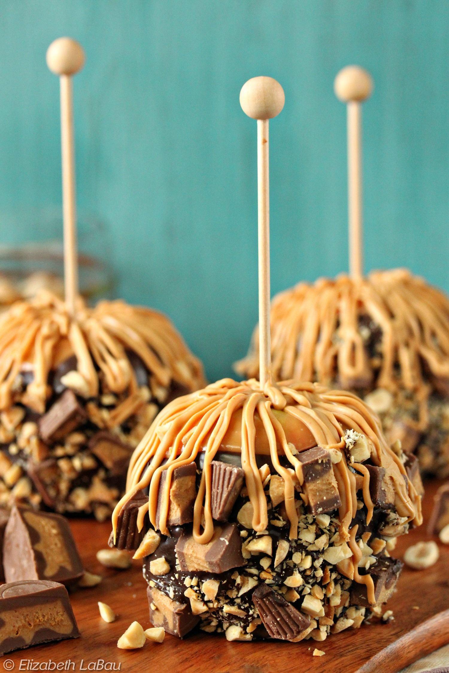 Peanut Butter Caramel Apples Recipe Peanut butter cups