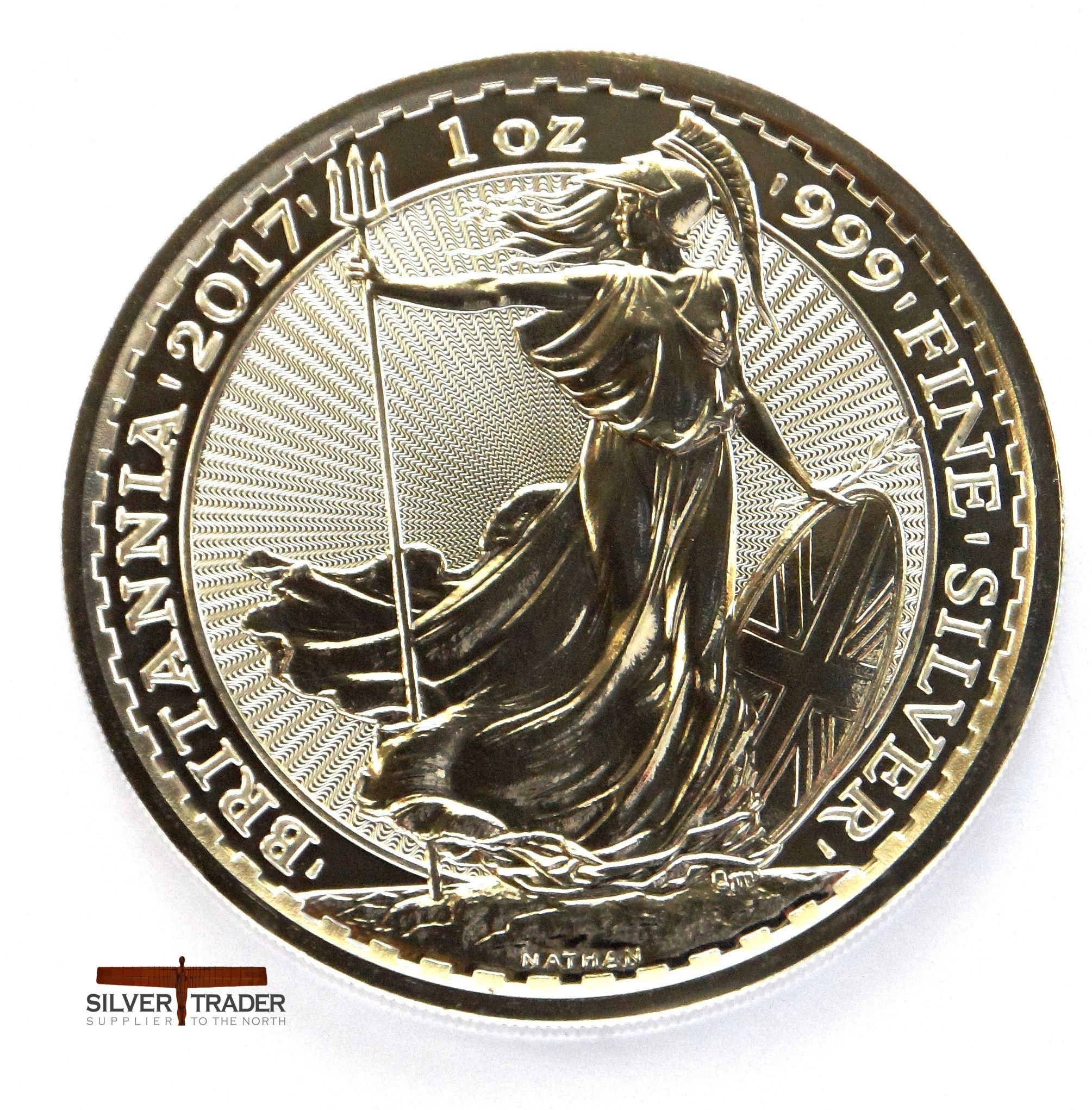 Silver Britannia 1 Ounce Pure Silver Bullion Coin 3