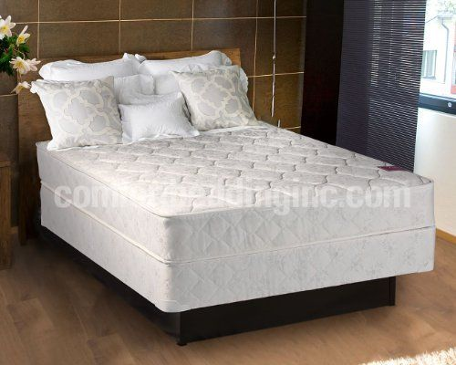 Continental Sleep Of Usa Legacy Mattress Set Twin 357 Innerspring Vertical Unit With 13 Sh Gauge And 6 Border Sch Shoddy Pad On Each