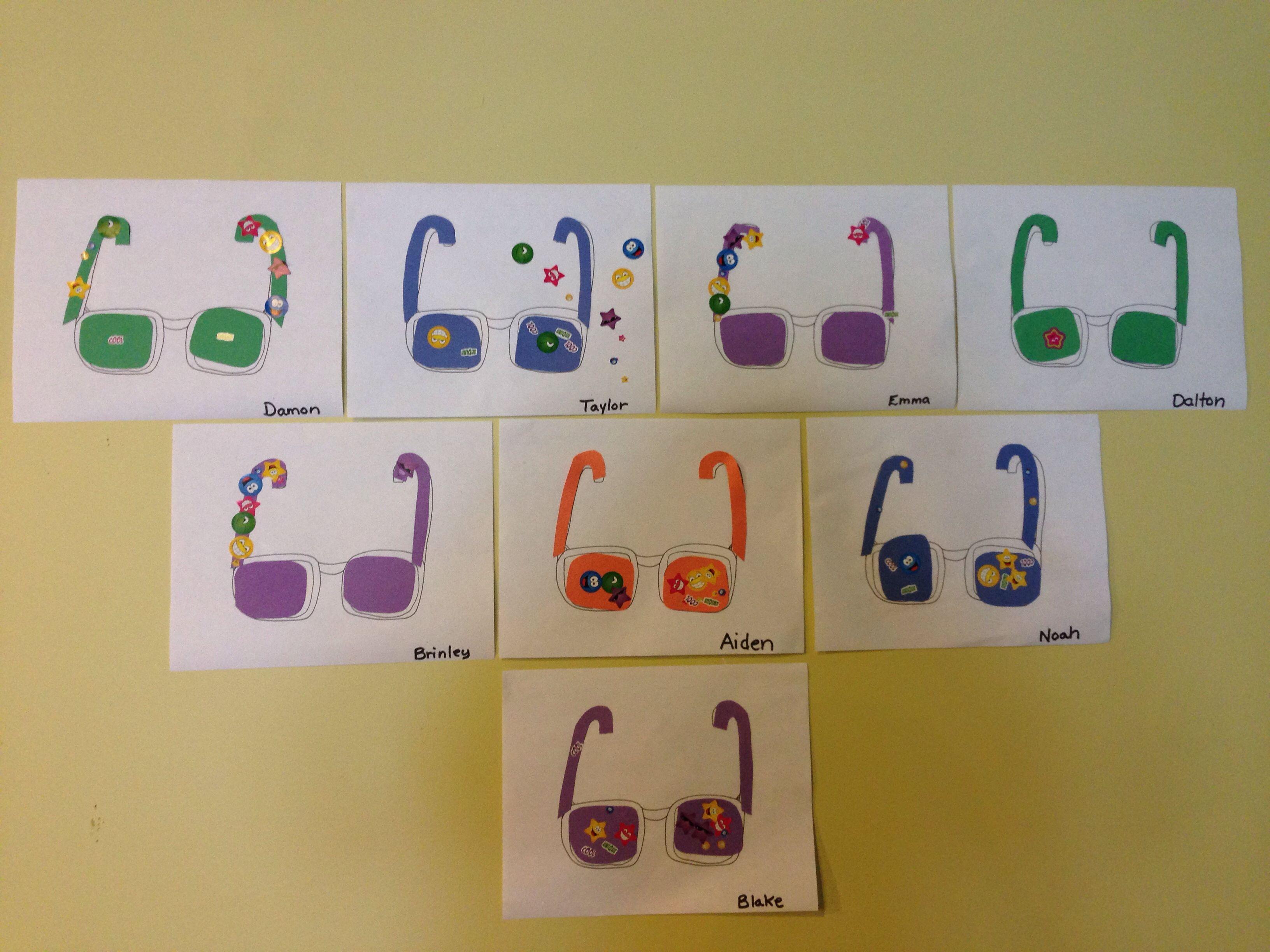 Beach Theme Week Preschool Class Shapes Sun Glasses Craft