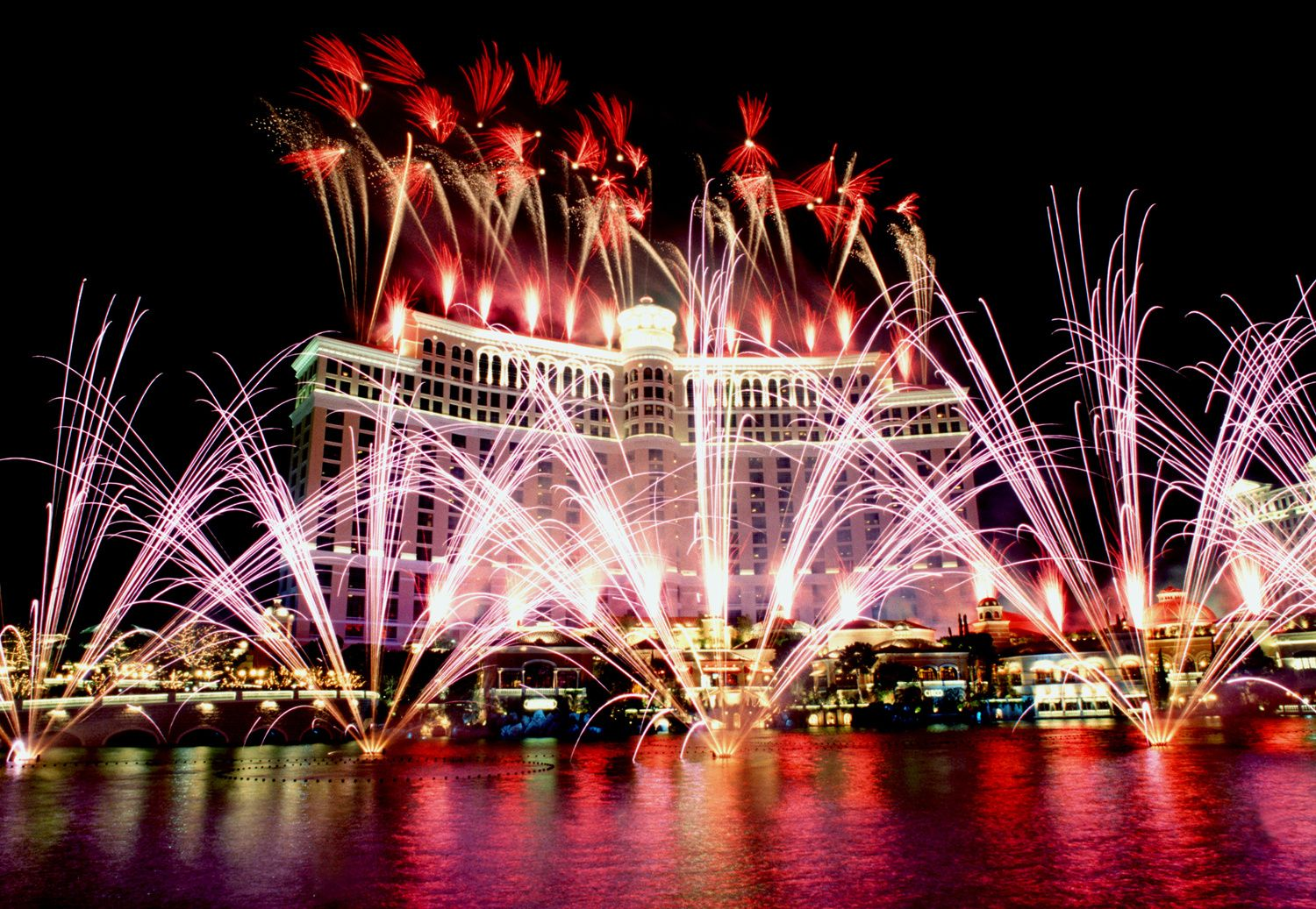 New Years Eve fireworks, Las Vegas. New years Eve