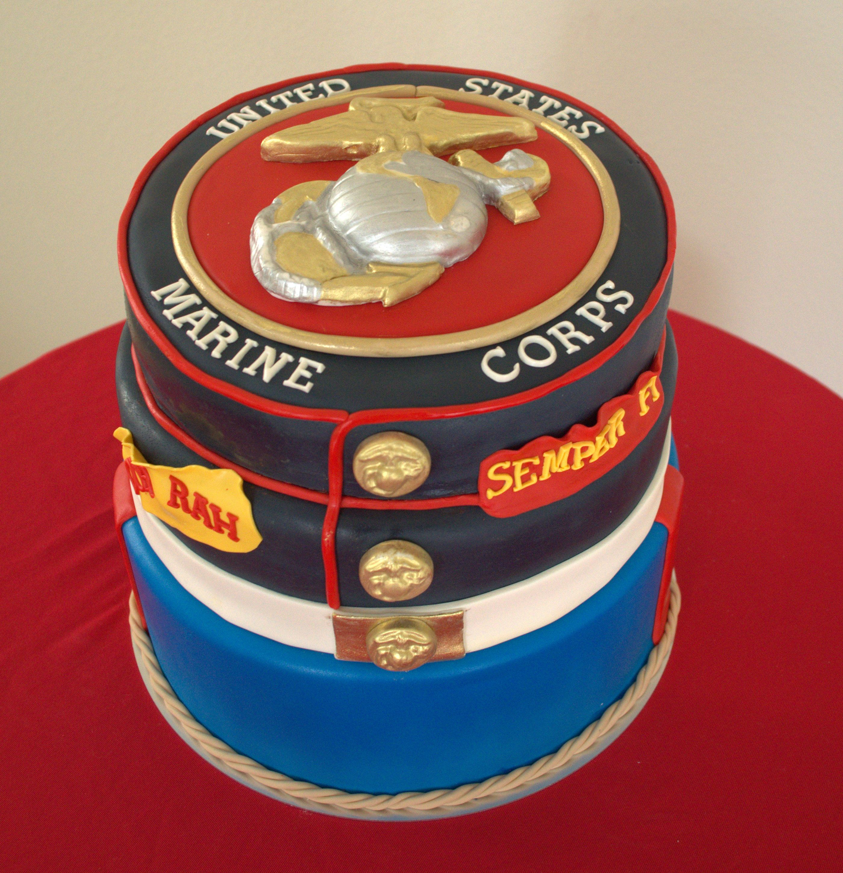 US Marine Corp Cake US Marince Cake DreamCakes By Millie