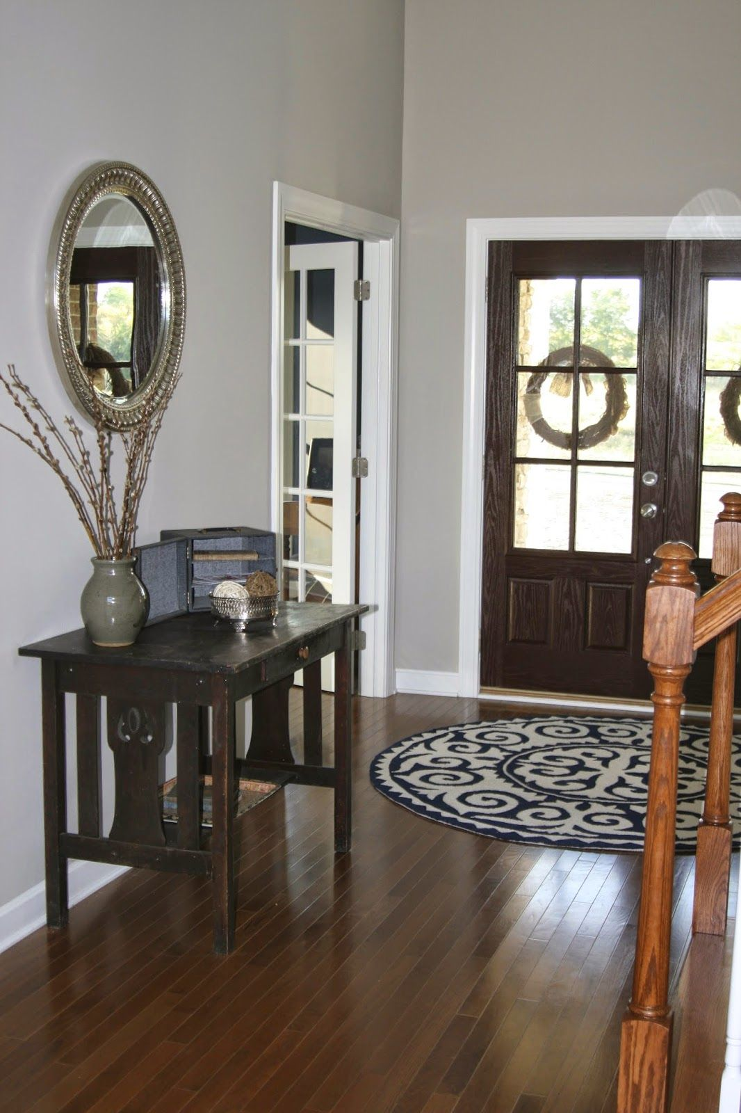 Entryway Paint Revere Pewter (Benjamin Moore). I like the