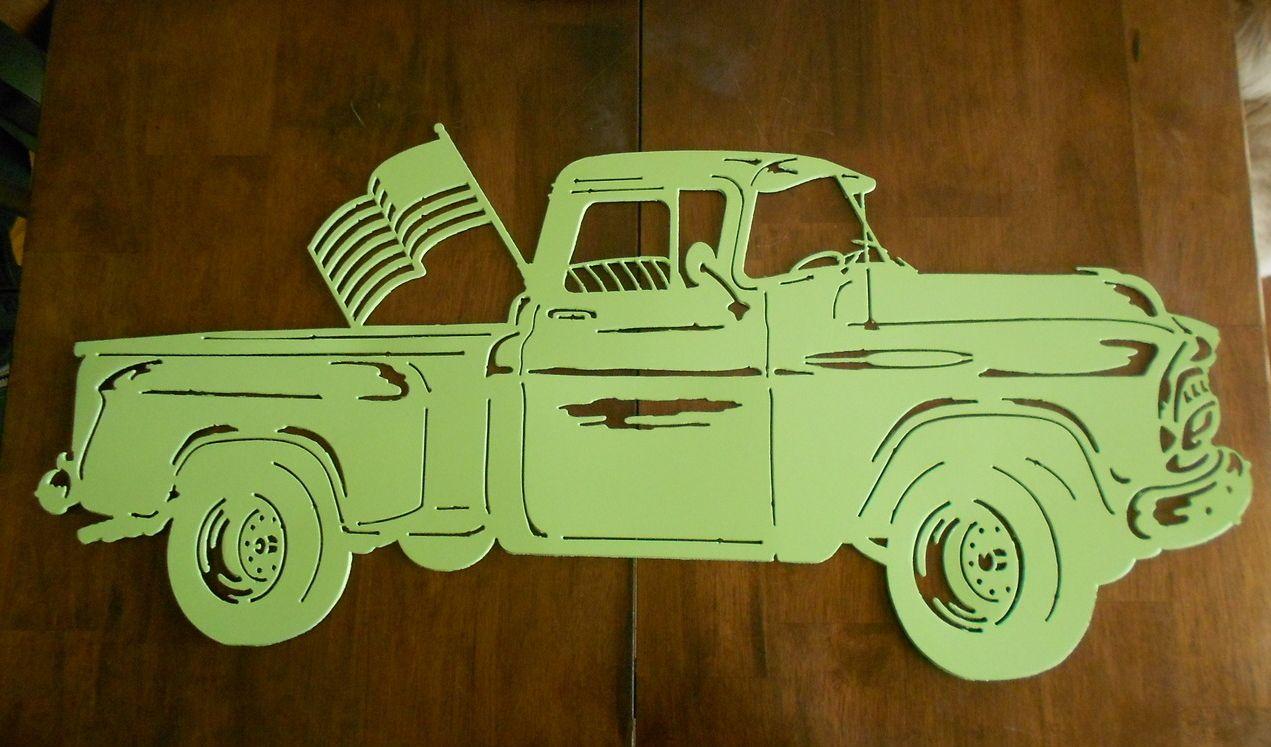 1955 Chevy Pickup Truck metal wall art Metal Art Car